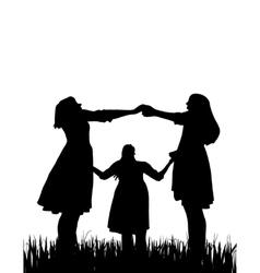 Three woman vector image