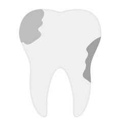 tooth caries icon flat style vector image vector image
