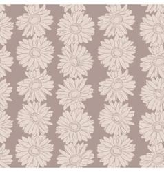 Vintage floral print seamless background vector image vector image