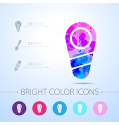 Watercolor icon vector