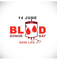 World blood donor day14 june vector