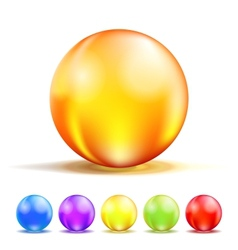 Color glass balls vector
