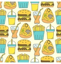 Tasty seamless pattern vector