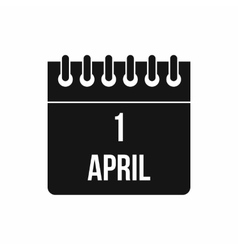 Calendar April 1 icon simple style vector image