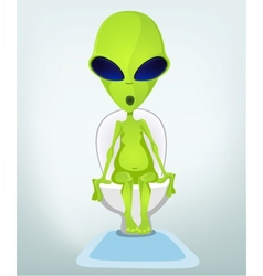 Cartoon Toilet Alien vector image
