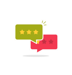 reviews icon  flat style review stars in vector image
