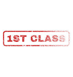 1st class rubber stamp vector image