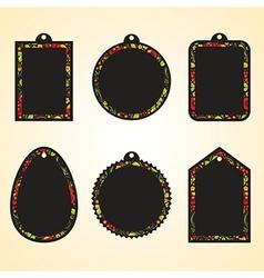 Hohloma hangtags set vector image