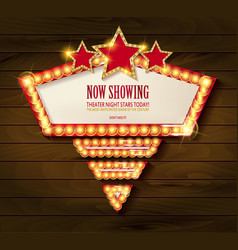 Frame cinema stars vector