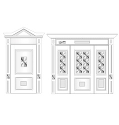 White door on isolated background vector