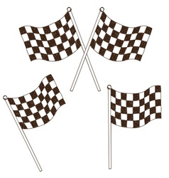 Checkered flag drawing vector