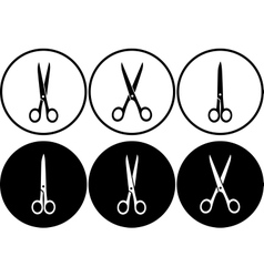 Scissors set in frame vector
