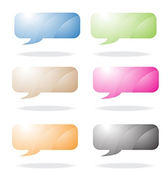rounded speech bubble vector image