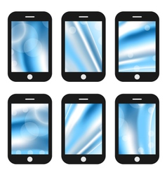 Abstract splash screens for mobile phones app with vector