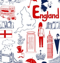 Sketch england seamless pattern vector