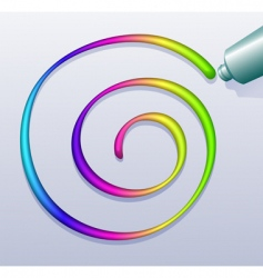 colorful spiral vector image