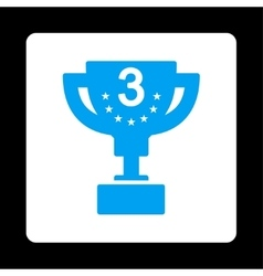 Third prize icon from award buttons overcolor set vector