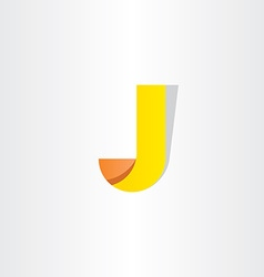 Yellow letter j symbol design logo j vector