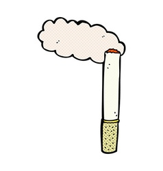Comic cartoon cigarette vector