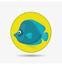 Sea fauna cartoon vector