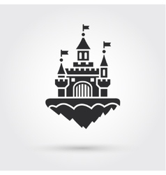 Abstract castle icon vector