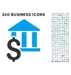 Pay library icon with flat set vector
