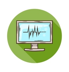 Ecg monitor icon vector
