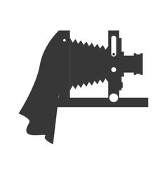 Old camera icon gadget design graphic vector