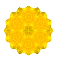 Ornamental yellow round pattern vector