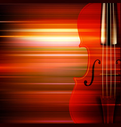 abstract red blur music background with violin vector image vector image