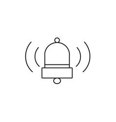 alarm bell icon vector image vector image