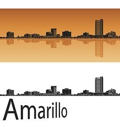 Amarillo skyline in orange vector
