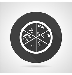 Bacteria colonies black round icon vector