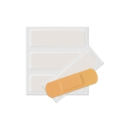Bandage Plaster Aid Band Medical Adhesive vector image vector image