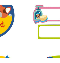 banner design for pet shop vector image vector image