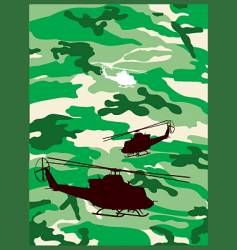 camouflage helicopter vector image vector image