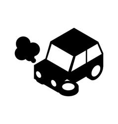 Car crash silhouette vector