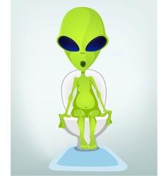 Cartoon Toilet Alien vector image vector image