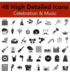 Celebration and Music Smooth Icons vector image