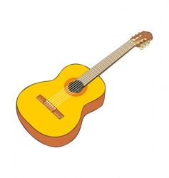 classical guitar vector image