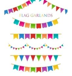Colorful garlands vector