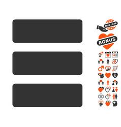 Database icon with love bonus vector