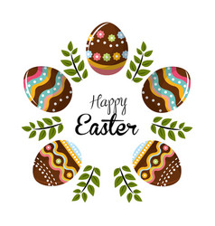 easter eggs day icon vector image