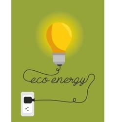 eco energy environment design isolated vector image vector image