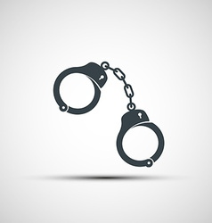icons of handcuffs vector image