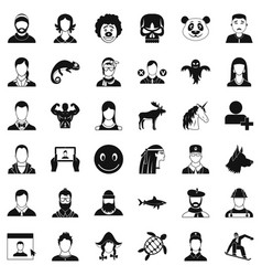 private icons set simple style vector image