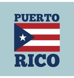 Puerto rico country flag vector