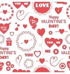Seamless background happy Valentines Day vector image vector image
