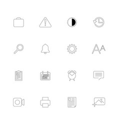 set of 16 universal icons vector image vector image