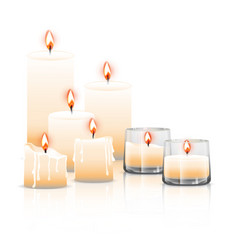 set of candles vector image